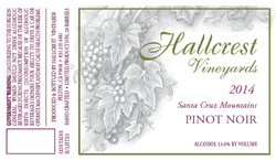 2014 Hallcrest Santa Cruz Mountains Pinot Noir